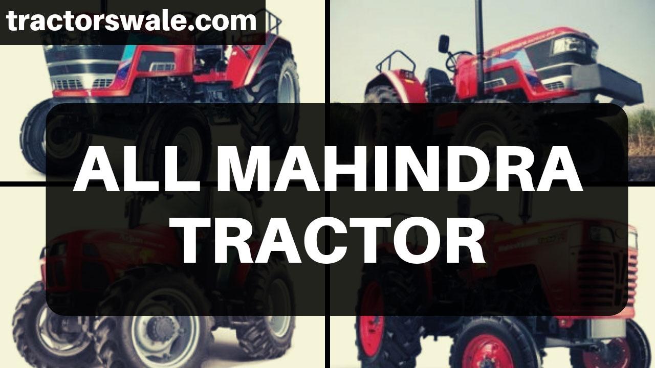 Mahindra Tractors - All New Mahindra Tractor Models 2019
