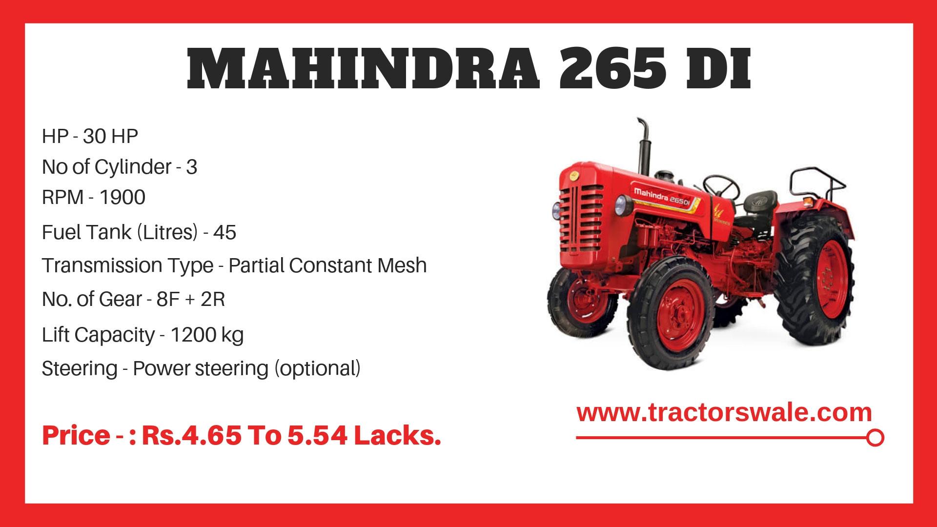 mahindra-265-di-specifications