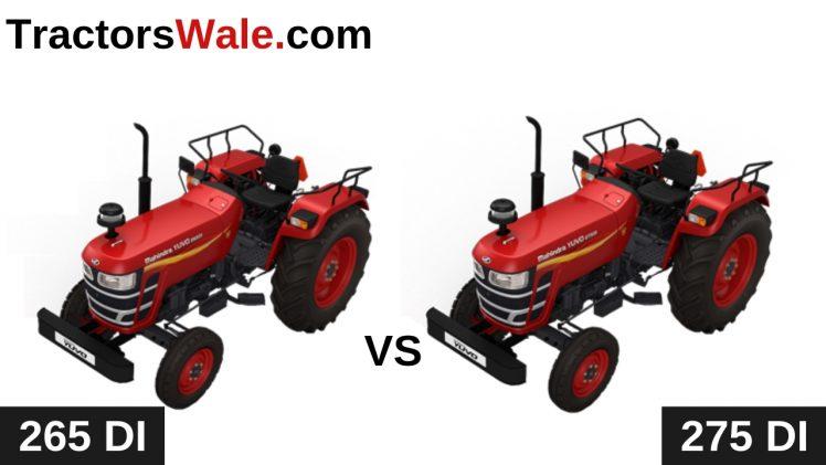 Mahindra Yuvo 265 DI vs Yuvo 275 DI Tractor Comparison 2019