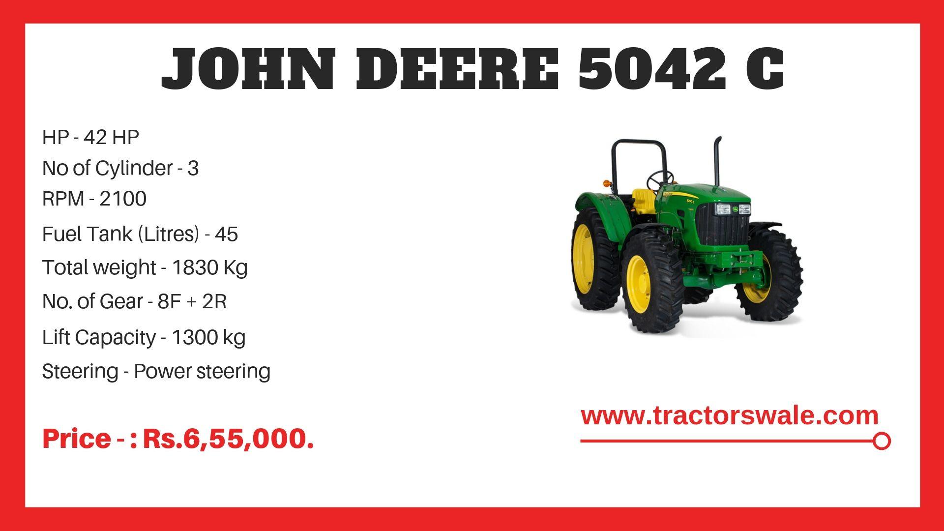 John Deere 5042 C Specifications