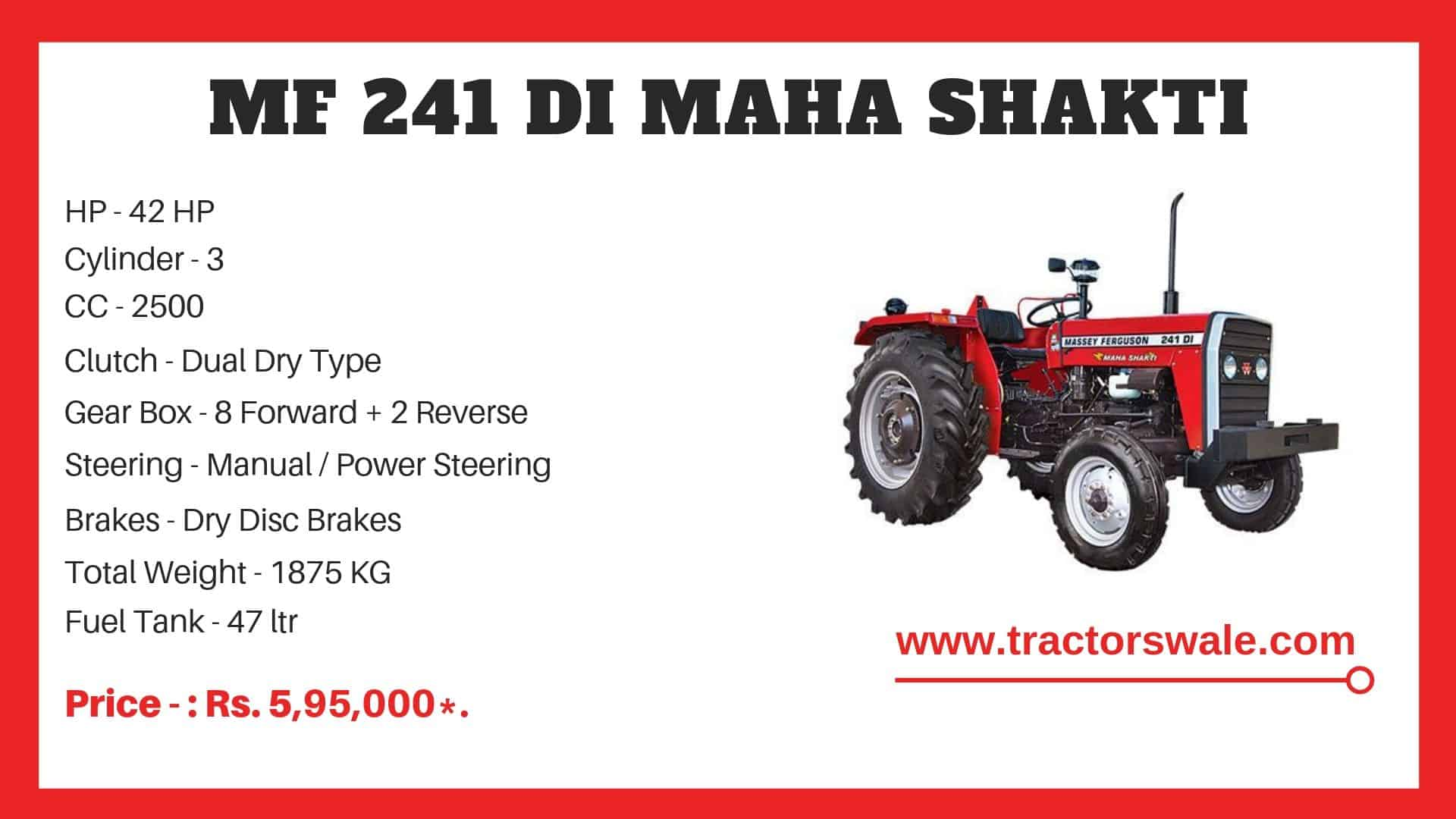 Massey Ferguson 241 DI Specifications