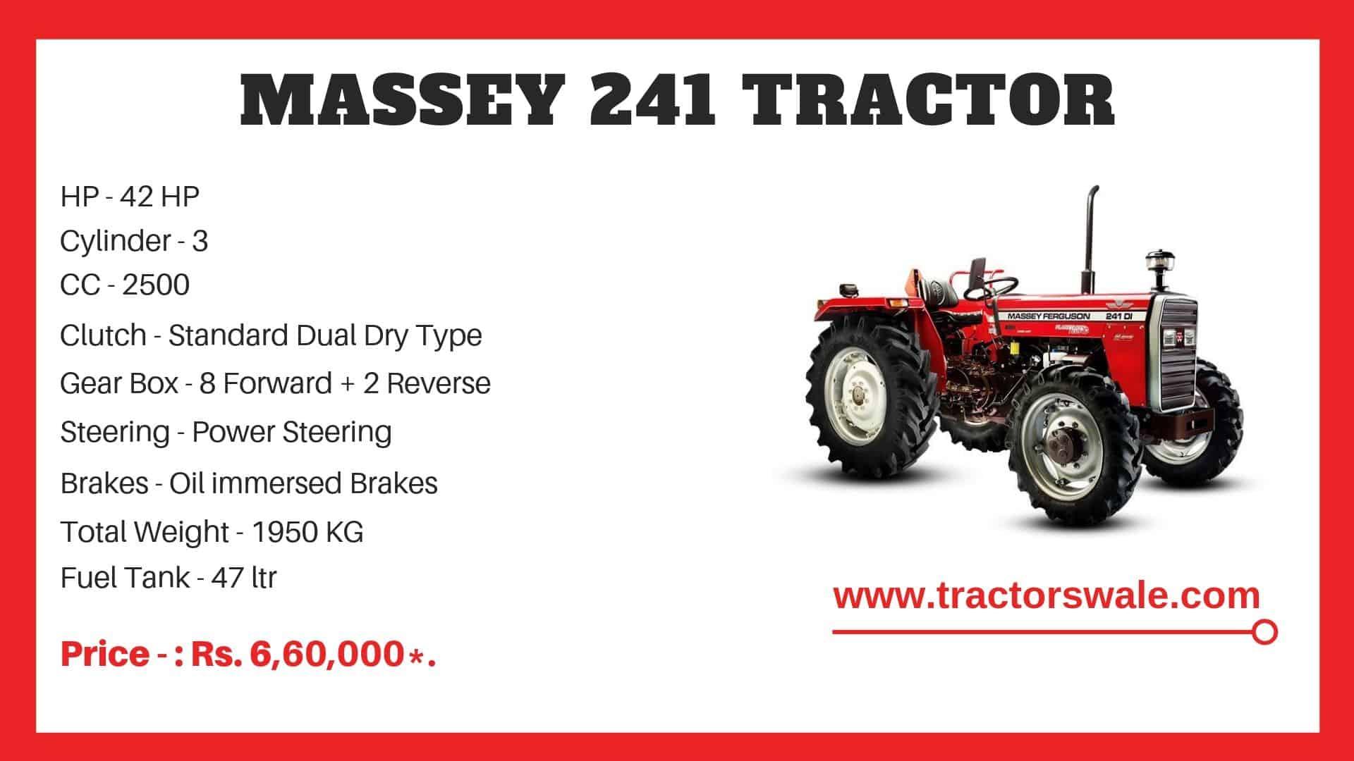 Massey Ferguson 241 di Specifications