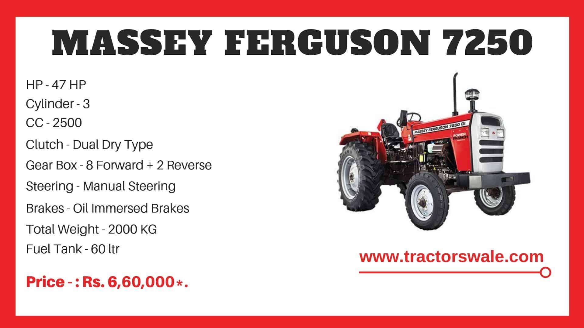 Massey Ferguson 7250 Specifications