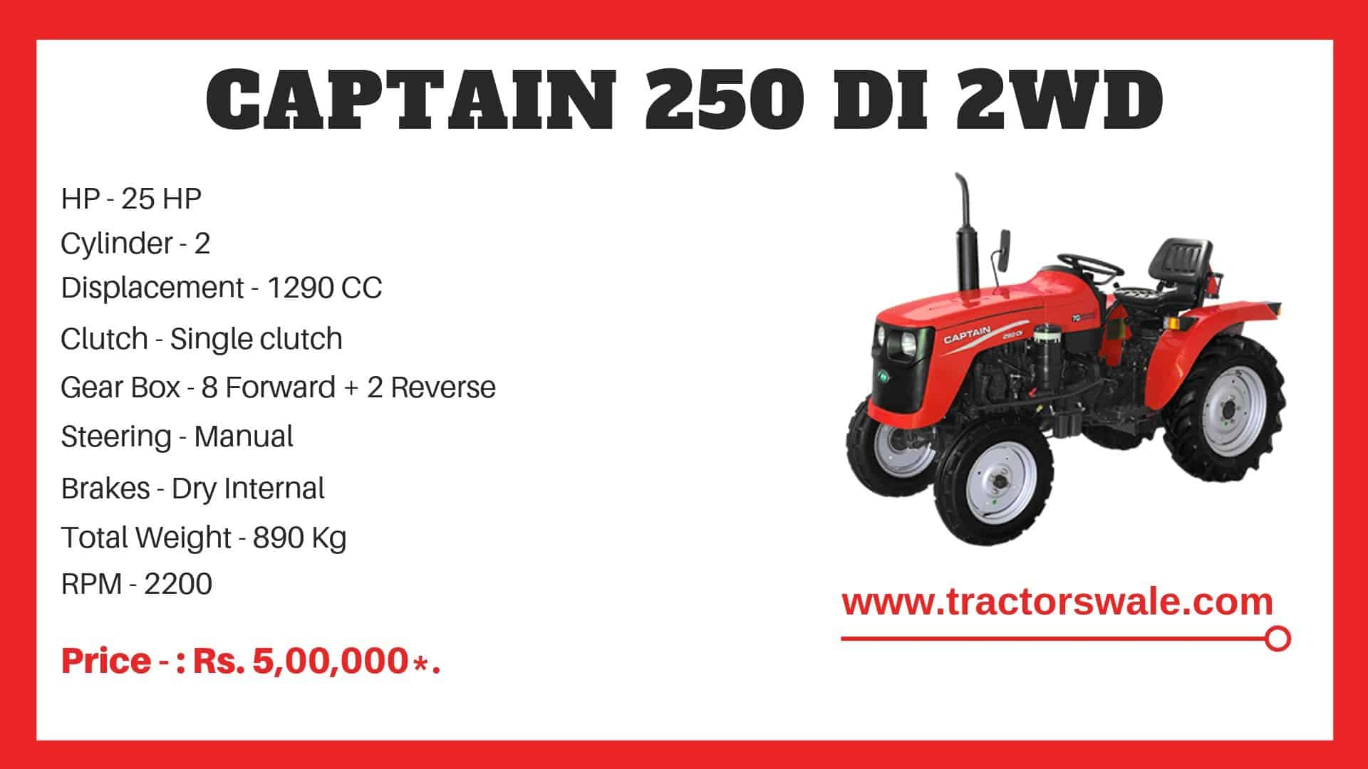Specification of Captain 250 DI