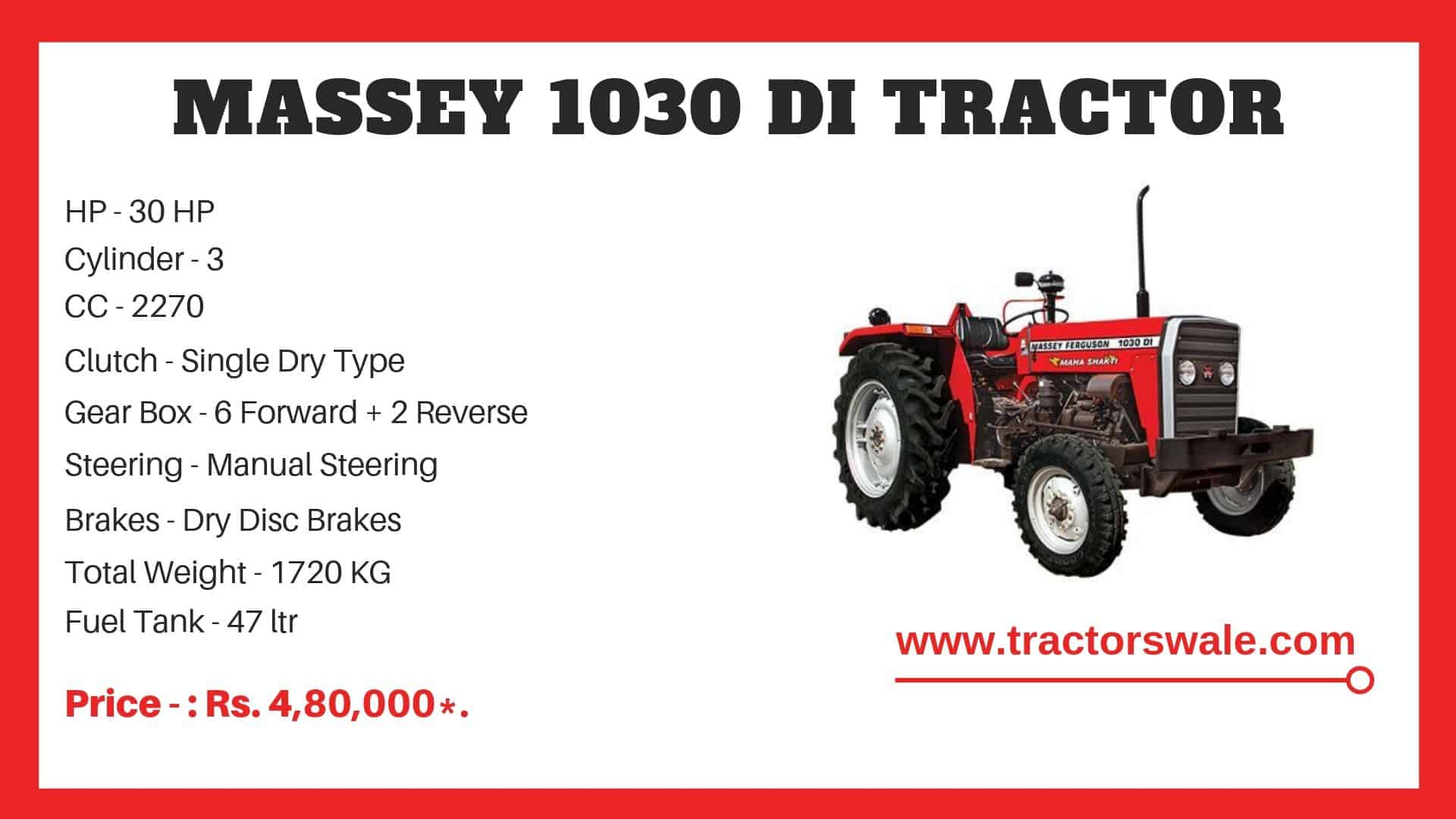 Specifications Of Massey Ferguson 1030 di
