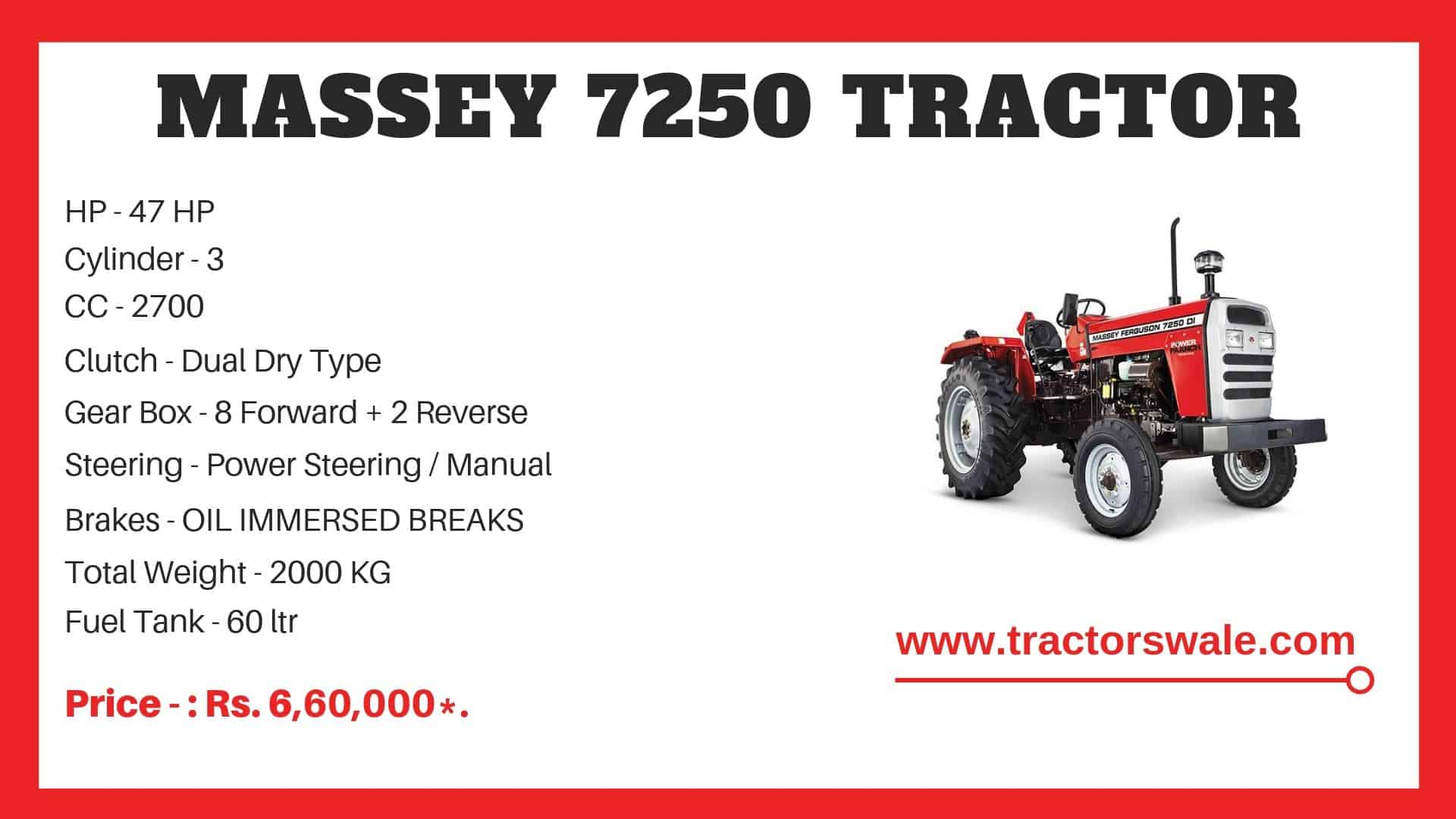 Specifications Of Massey Ferguson 7250 Tractor