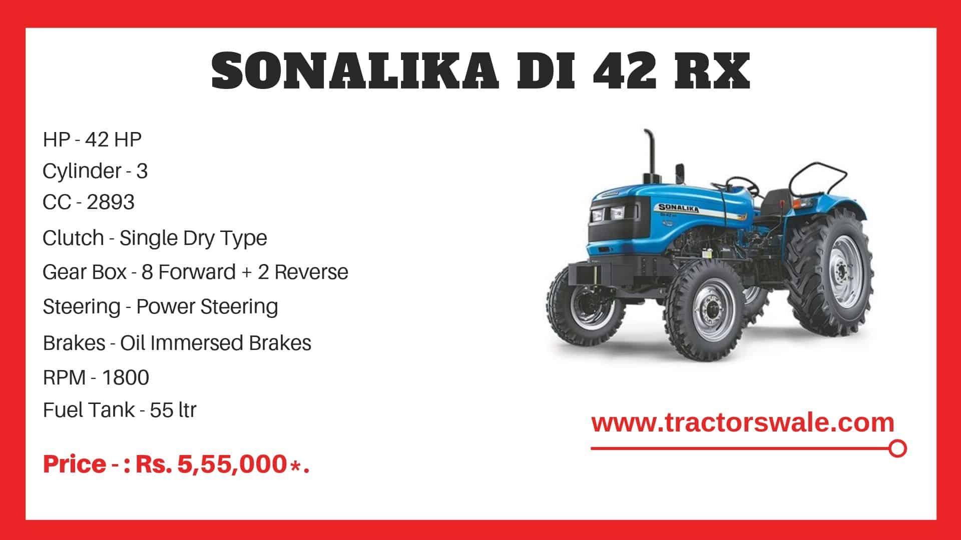 Sonalika DI 42 RX tractor specs