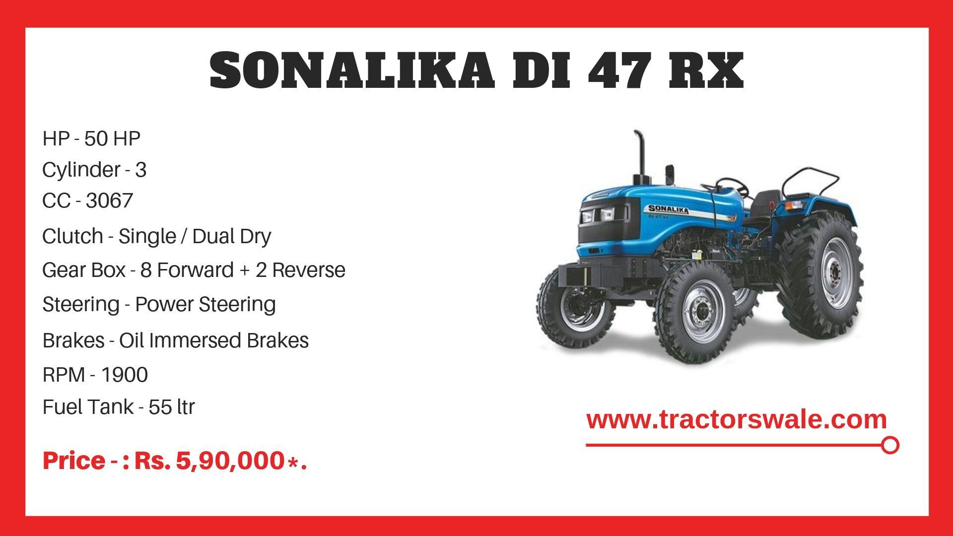 Sonalika DI 47 RX tractor specs