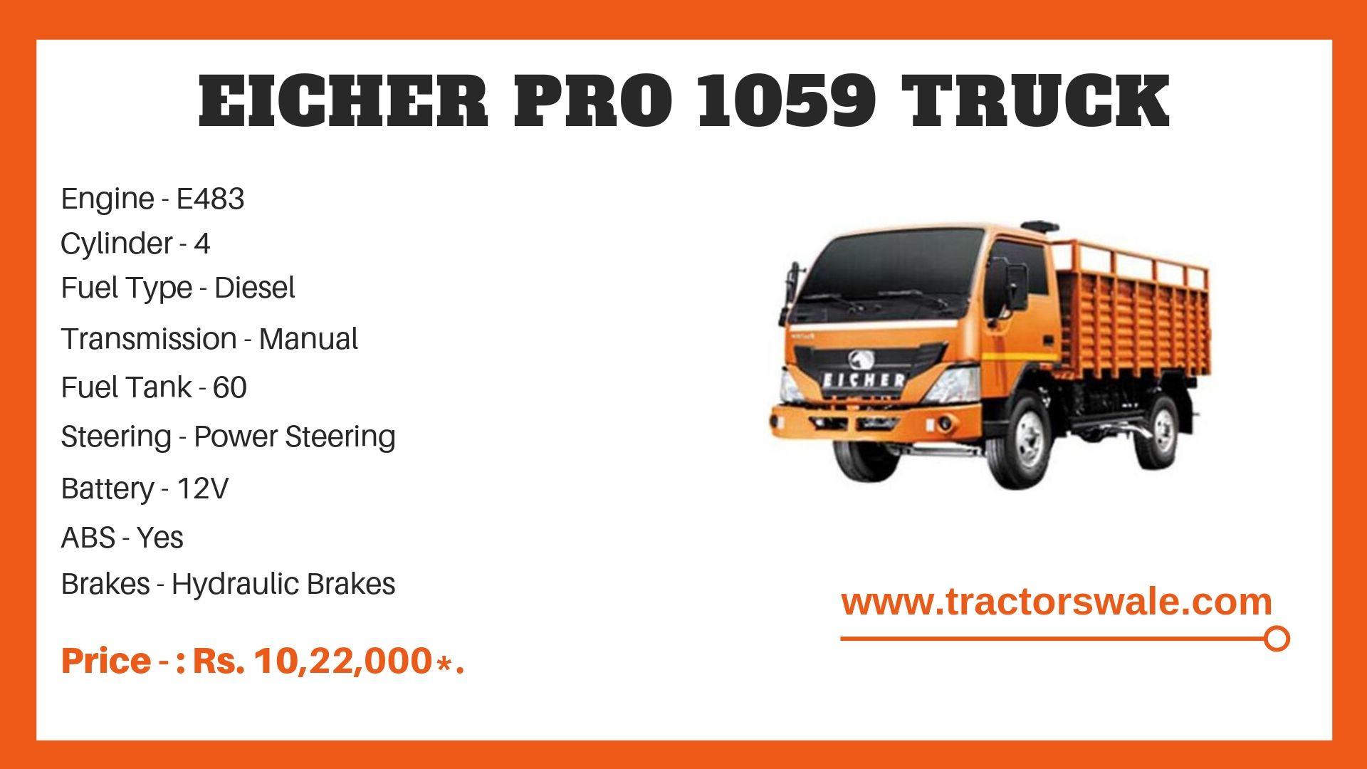 Eicher Pro 1059 Truck specs