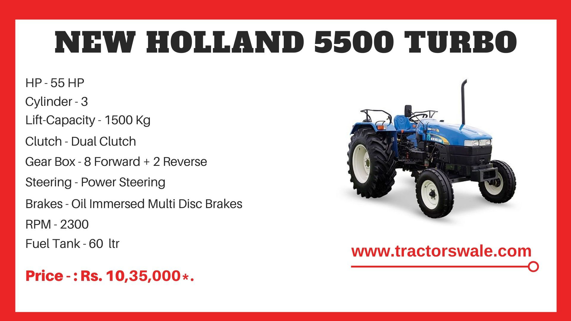 New Holland 5500 tractor