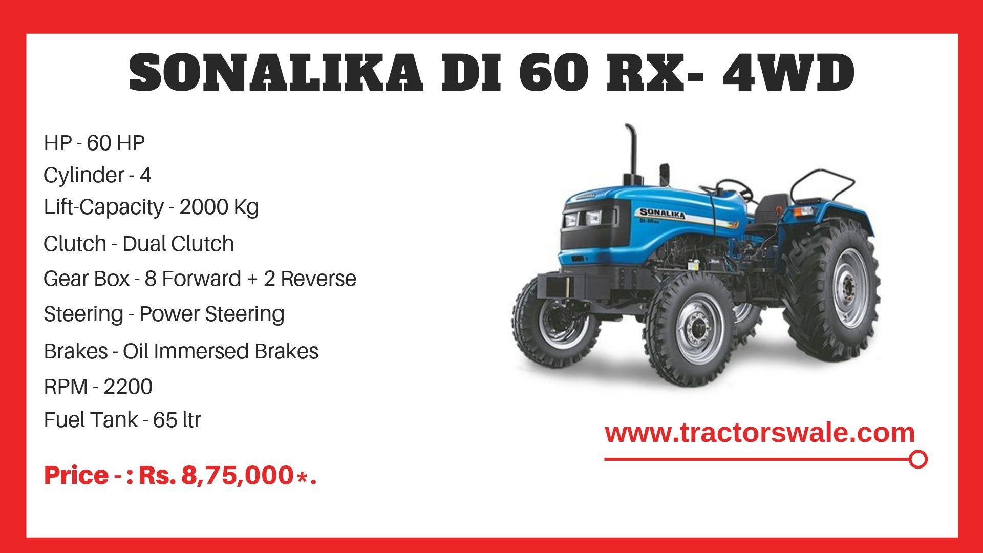Sonalika DI 60 RX tractor price