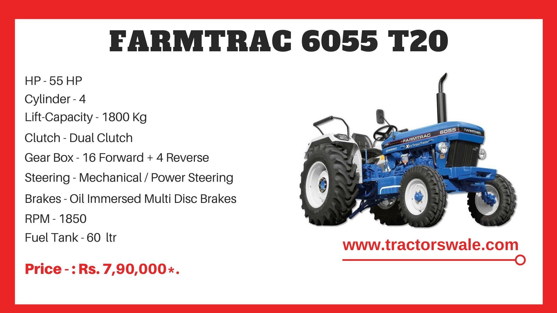 Farmtrac 6055 T20 tractor price