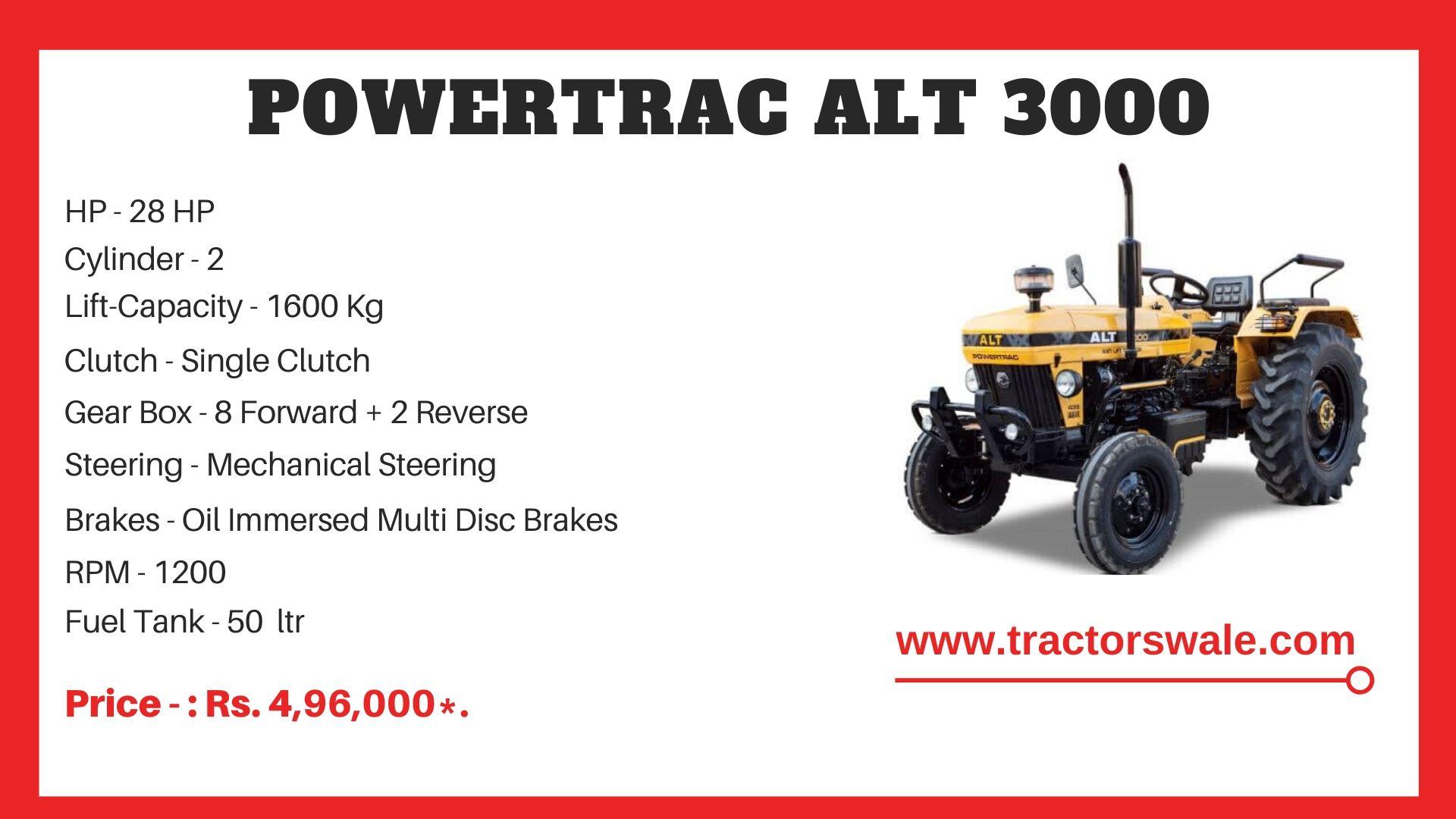 PowerTrac ALT 3000 tractor price