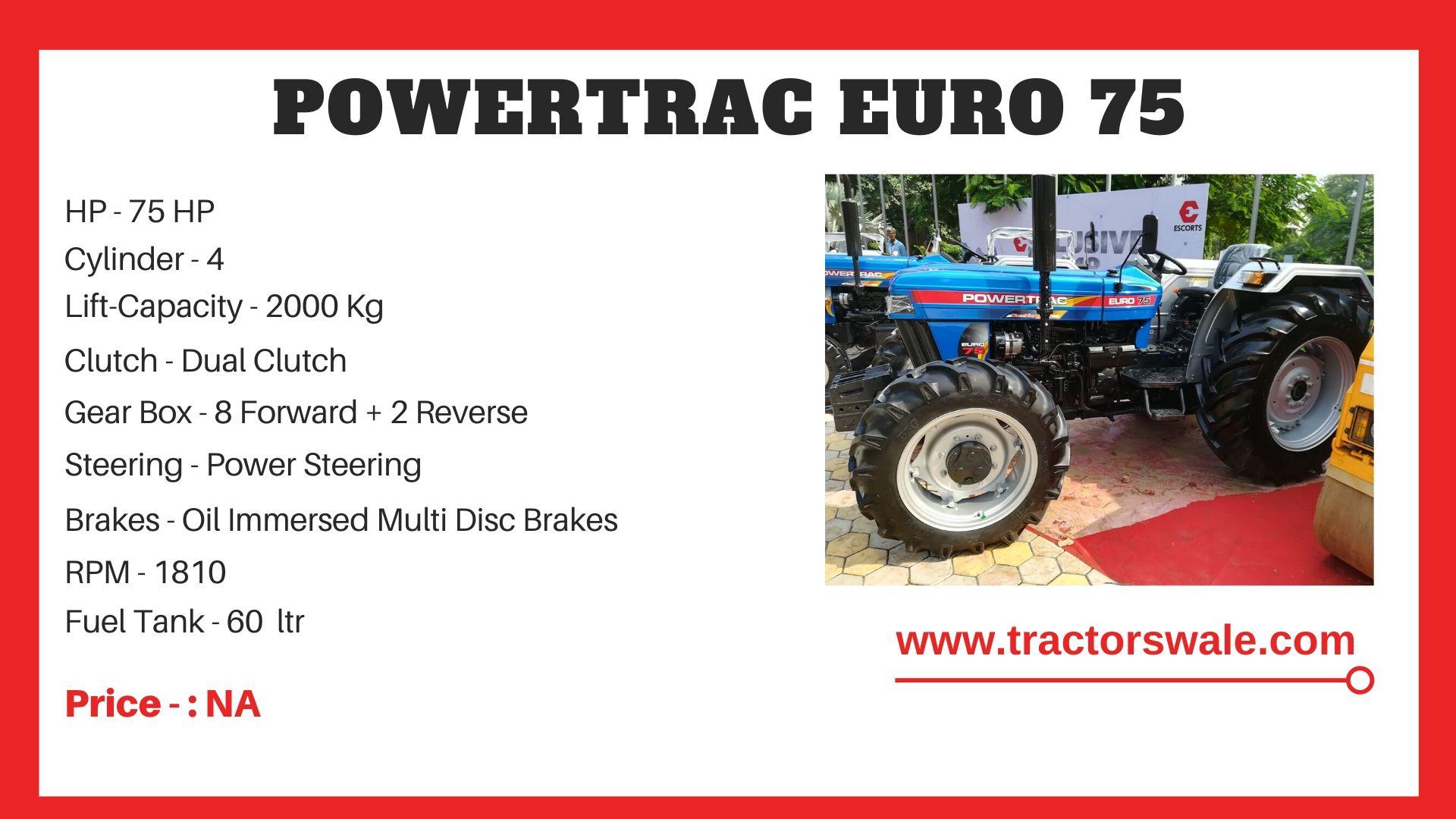 PowerTrac Euro 75 Tractor price