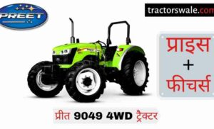 Preet 9049 4WD tractor price specifications overview mileage