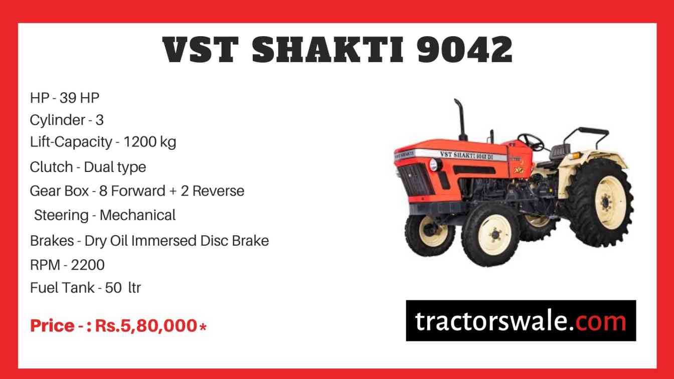 VST Shakti 9042 Tractor Price