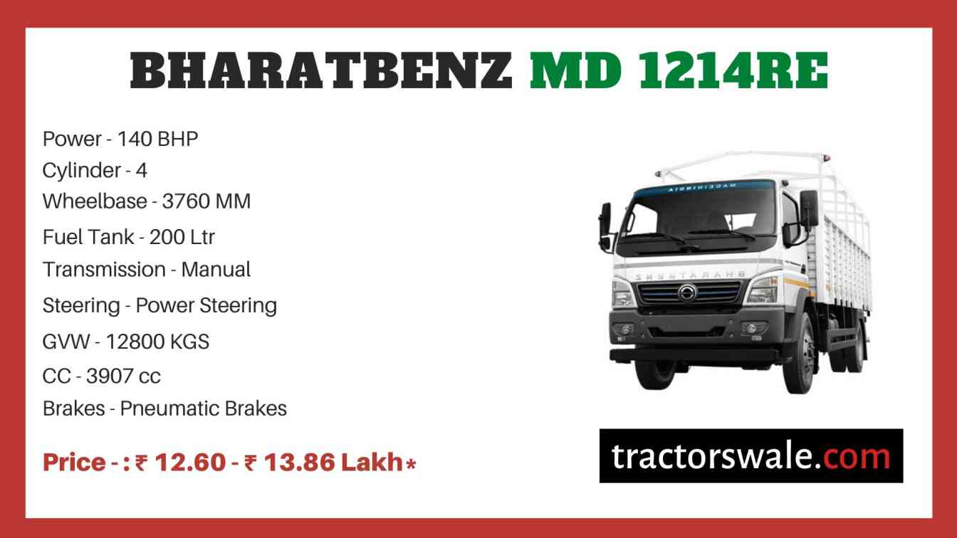 Bharat benz MD 1214RE price