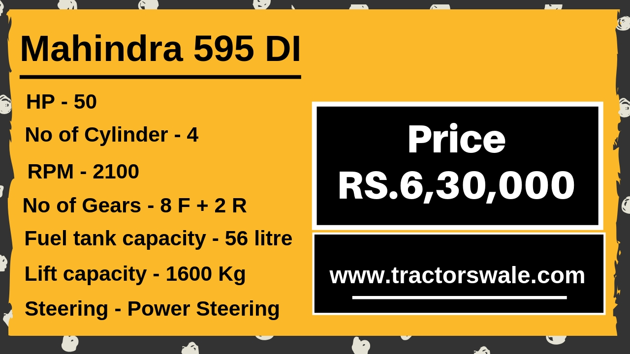 Mahindra 595 DI Tractor Price list in India Specifications Mileage 2019