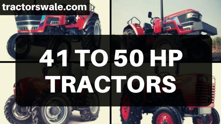 41 TO 50 HP Mahindra Tractors Models Price Specs