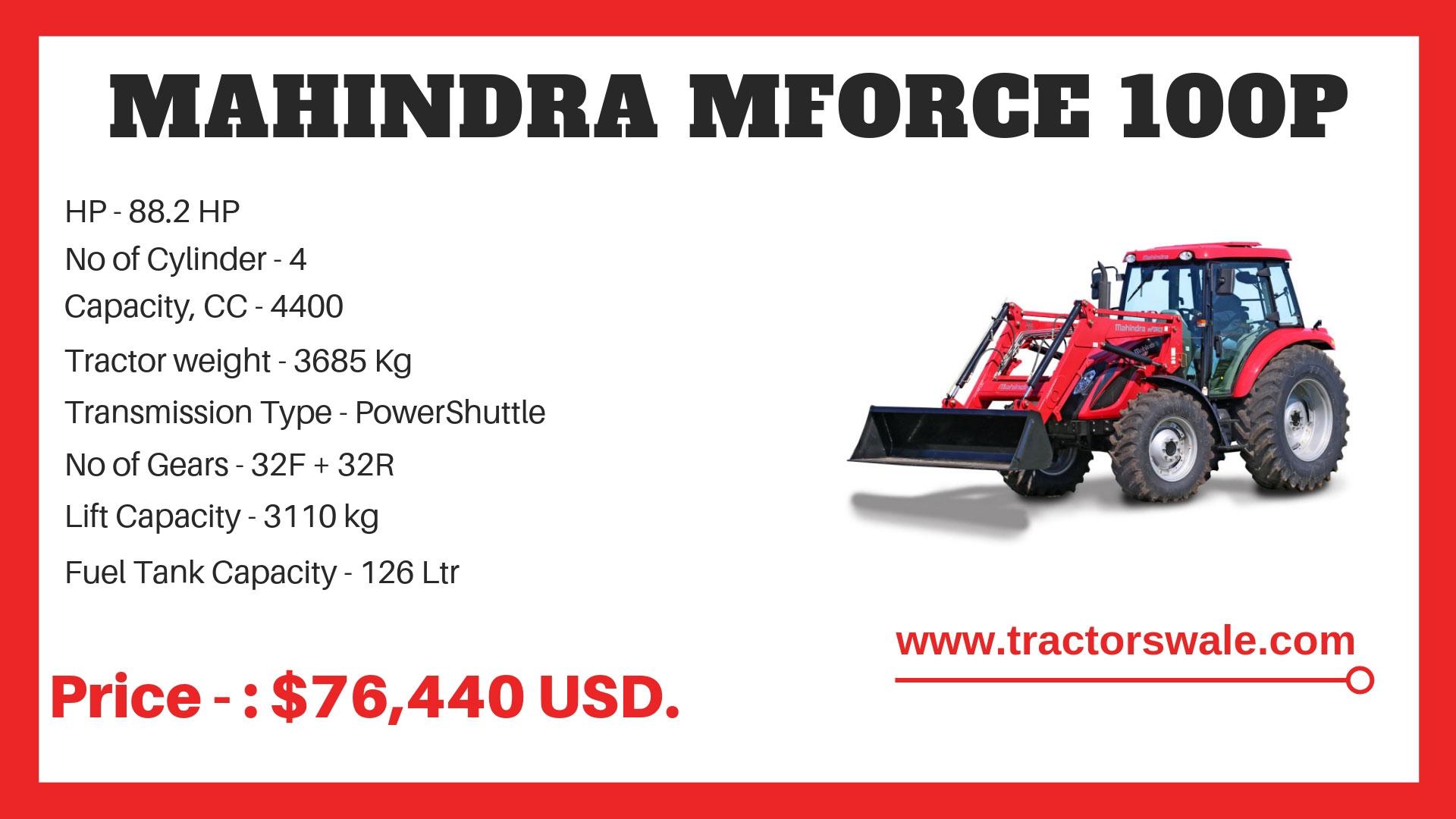 Mahindra MForce 100P specification
