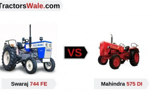 Swaraj 744FE vs Mahindra 575DI Tractor Comparison Review India (2019) | महिंद्रा vs स्वराज
