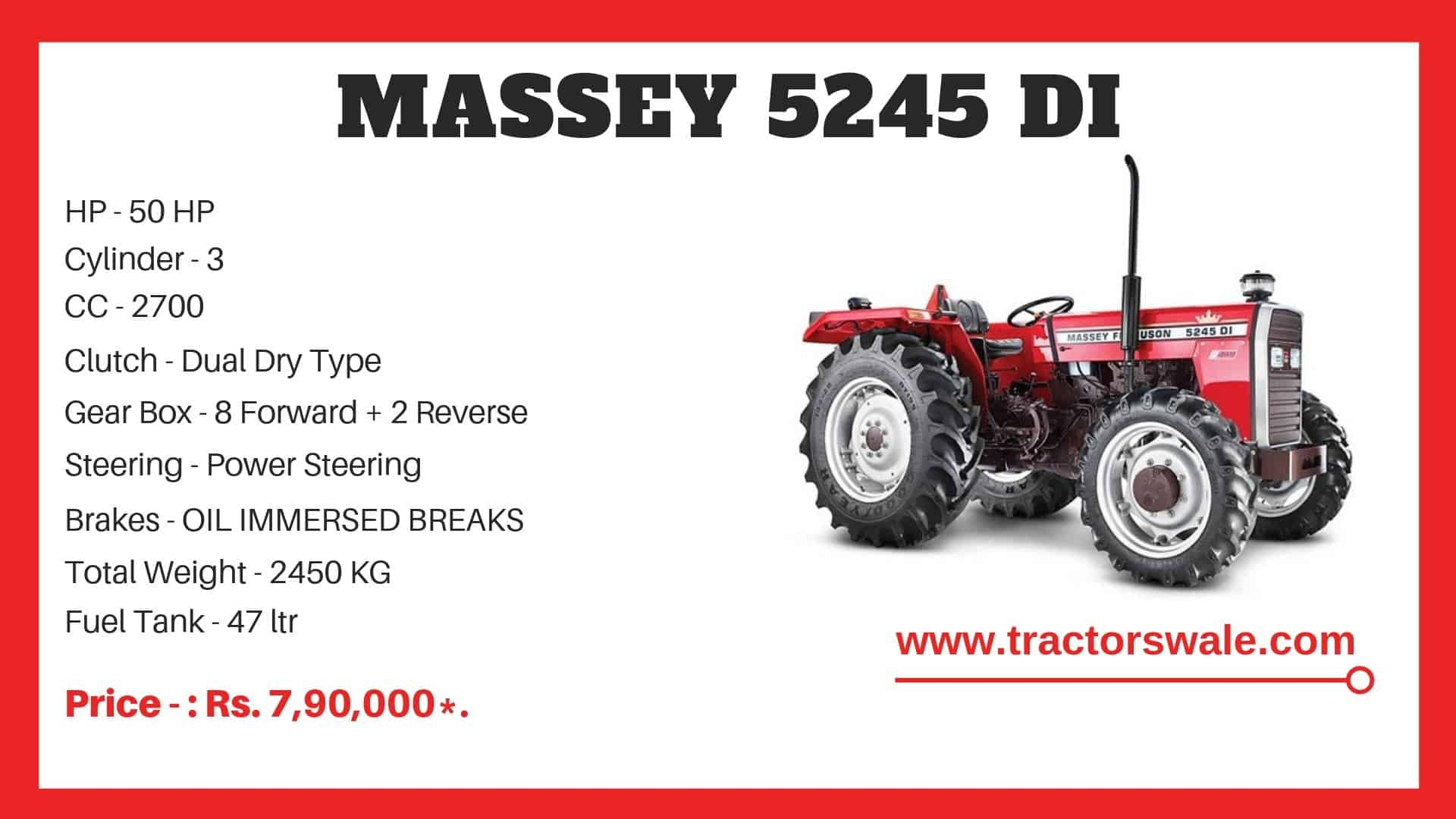 massey ferguson 5245 di price list