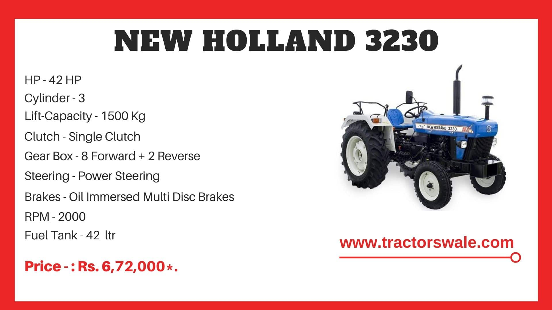 New Holland 3230 tractor price