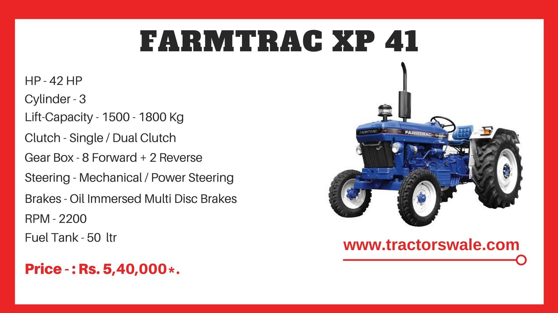 Farmtrac XP 41 tractor price