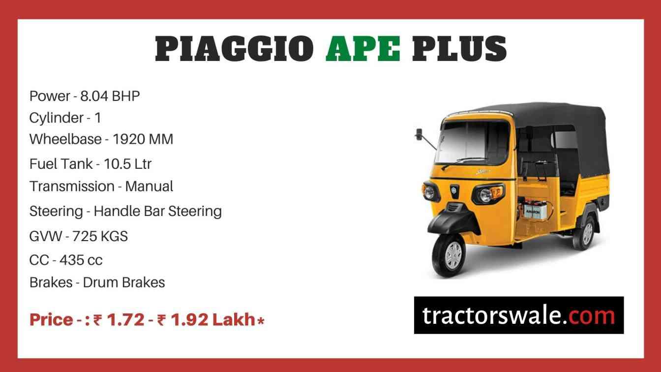 Piaggio Ape Plus price