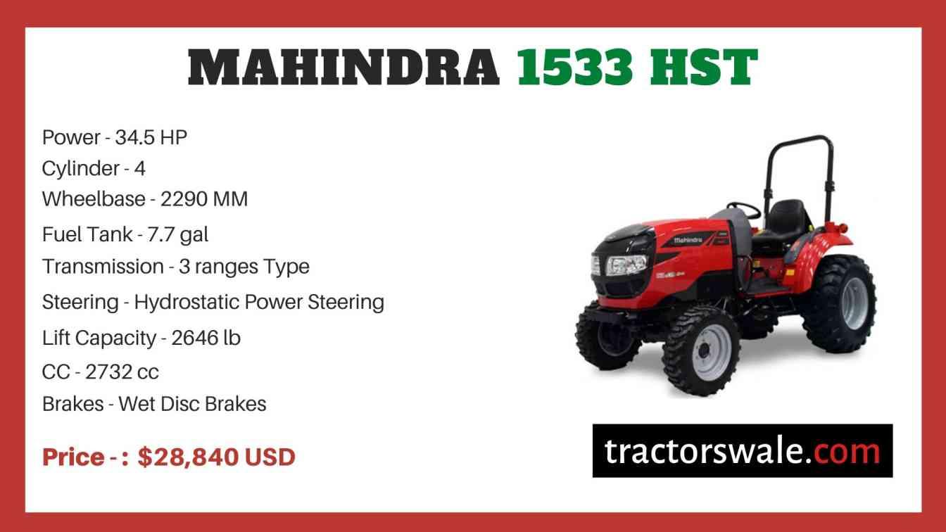 Mahindra 1533 HST price