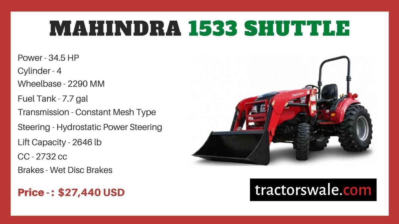 Mahindra 1533 SHUTTLE price
