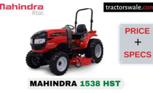 Mahindra 1538 HST Tractor Price, Specs, Mileage | 2020