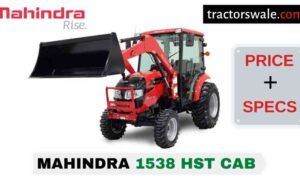 Mahindra 1538 HST CAB Tractor Price, Specs, Mileage | 2020