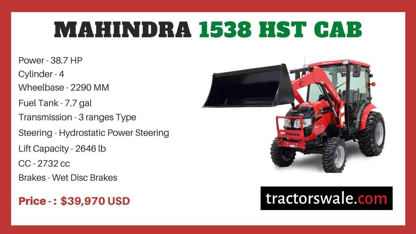 Mahindra 1538 HST CAB price